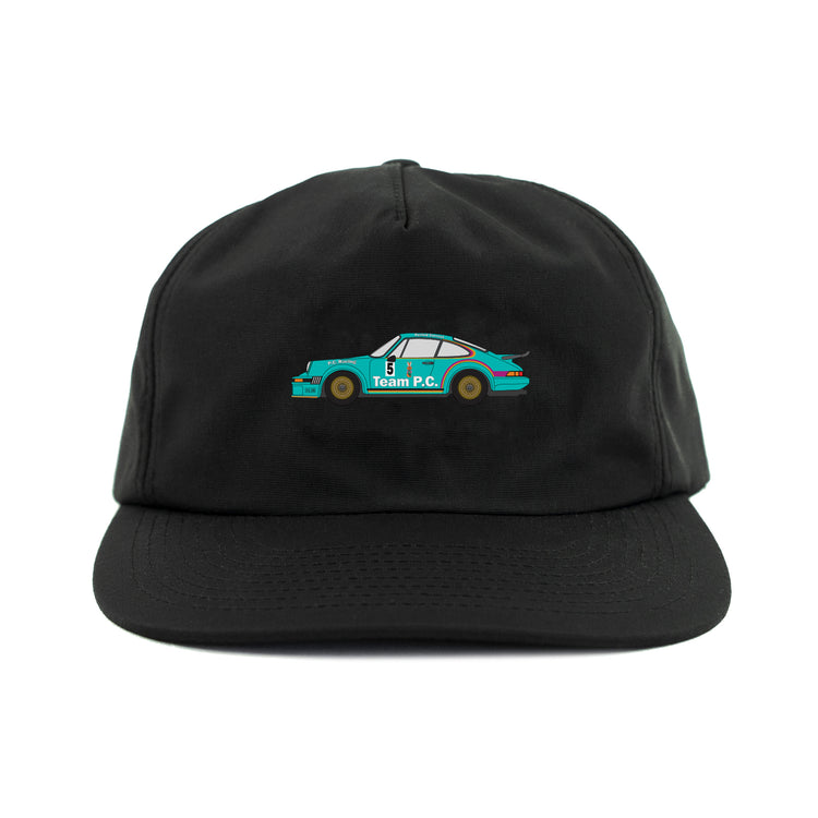 NUMBER 5 NYLON CAP BLACK