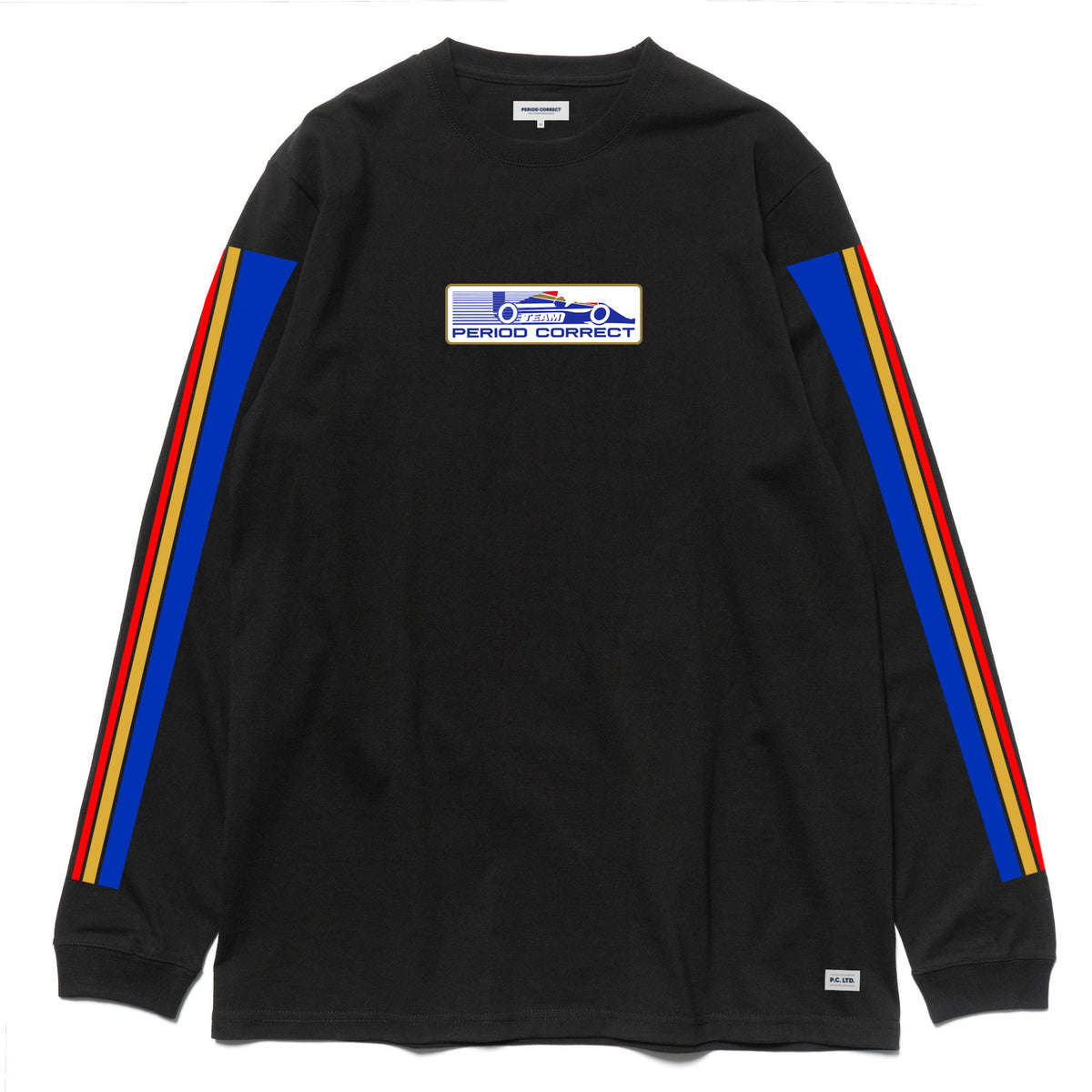 RR STRIPE L/S T-SHIRT BLACK