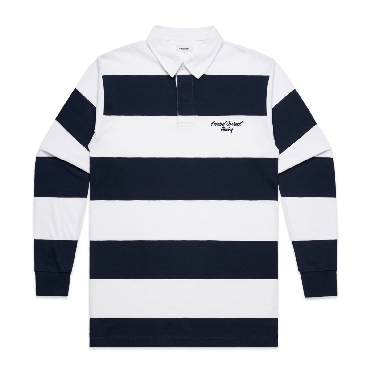 LIVERY STRIPED RUGBY SHIRT NAVY/WHITE