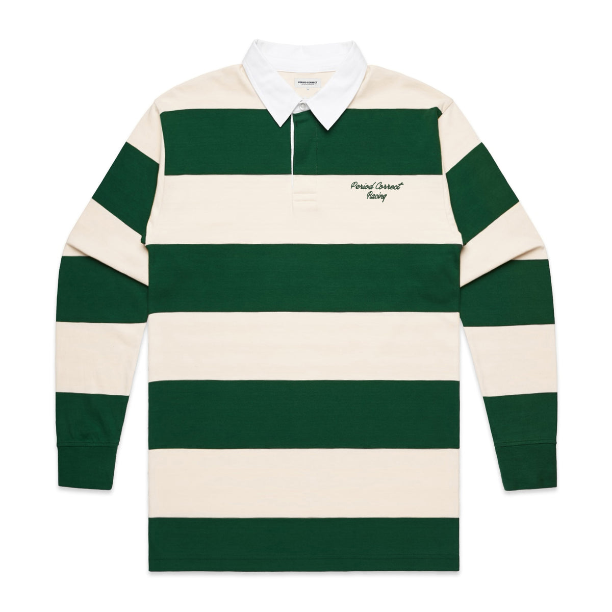 LIVERY STRIPED RUGBY SHIRT GREEN/WHITE