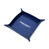 NAVY LEATHER VALET TRAY