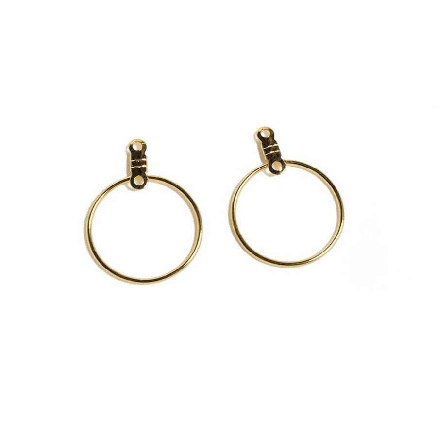 19mm Round Earhoops - Gold Colour