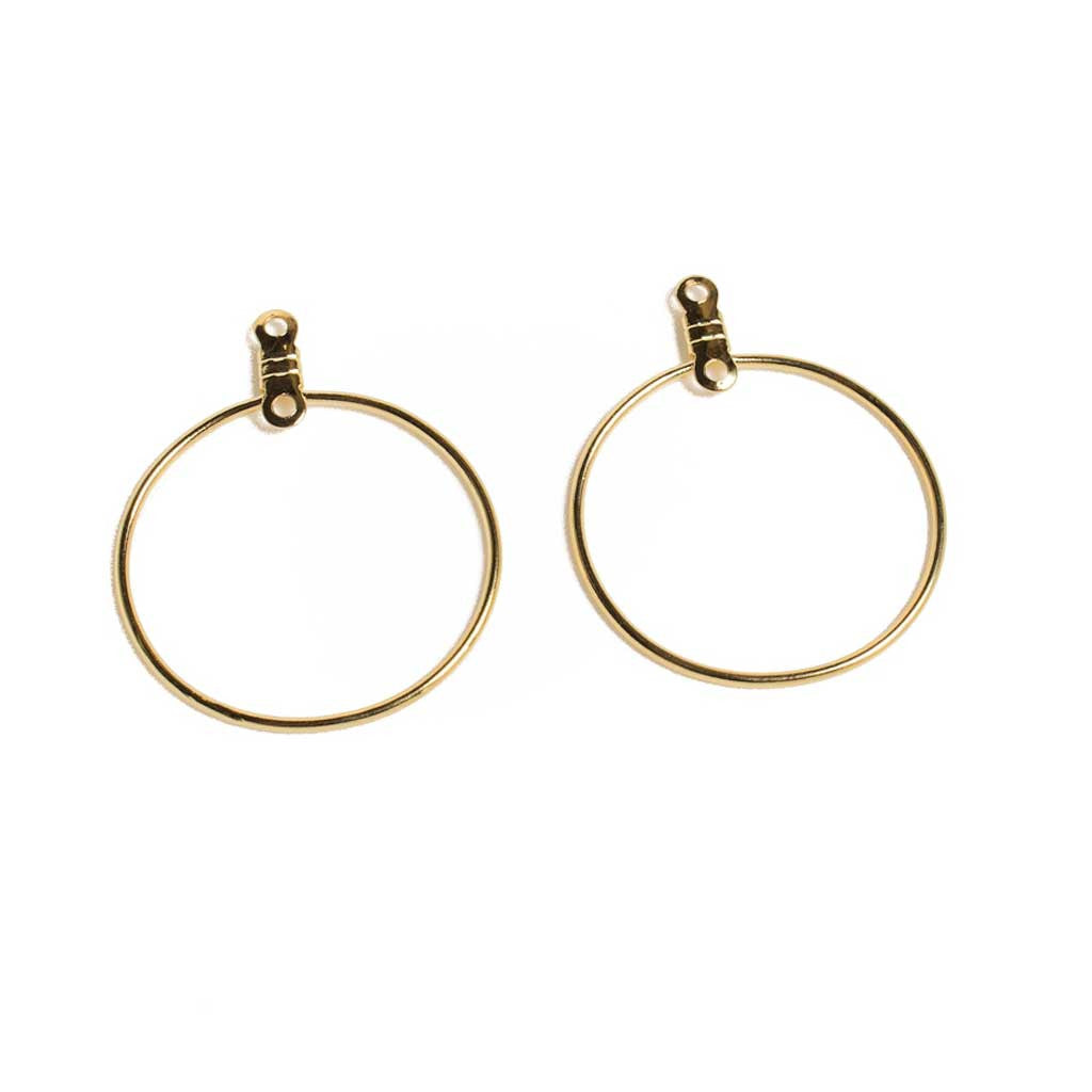 25mm Round Earhoops