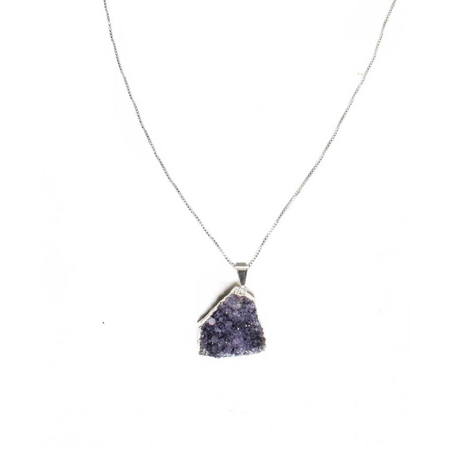 Amethyst Druze Pendant Necklace