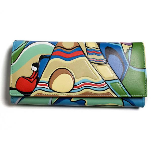 '...And Some Watched the Sunset' Wallet by Daphne Odjig