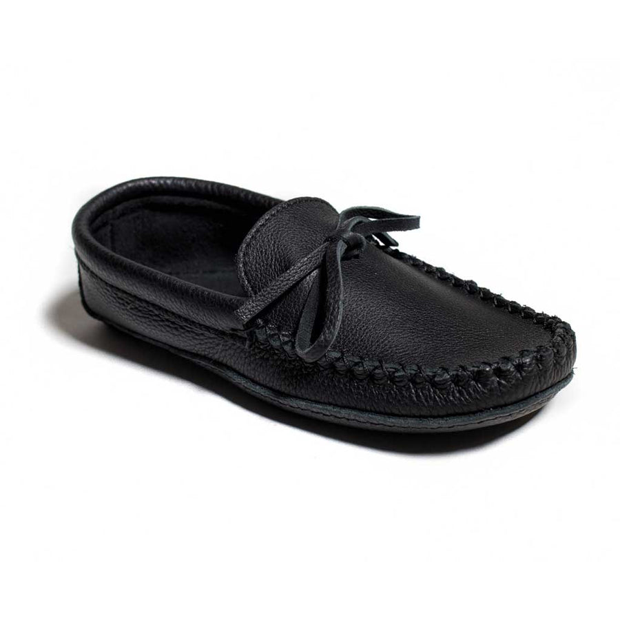 Men's Black Leather Moccasins