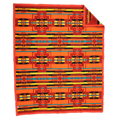 Boy Chief Blanket - Autumn Red