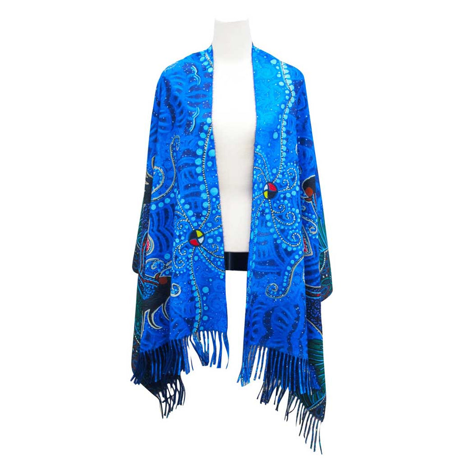 'Breath of Life' Fringed Shawl