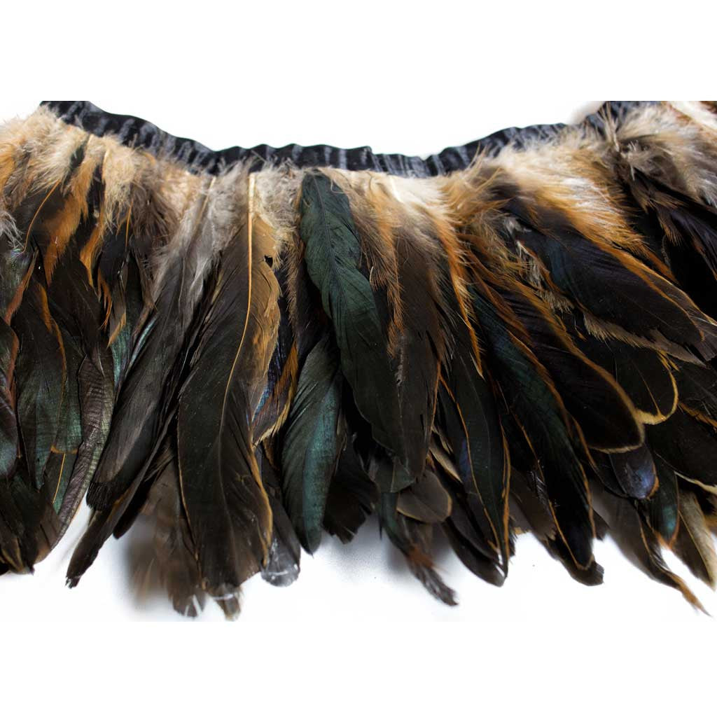 Bronze Rooster Feathers - 1 Yard