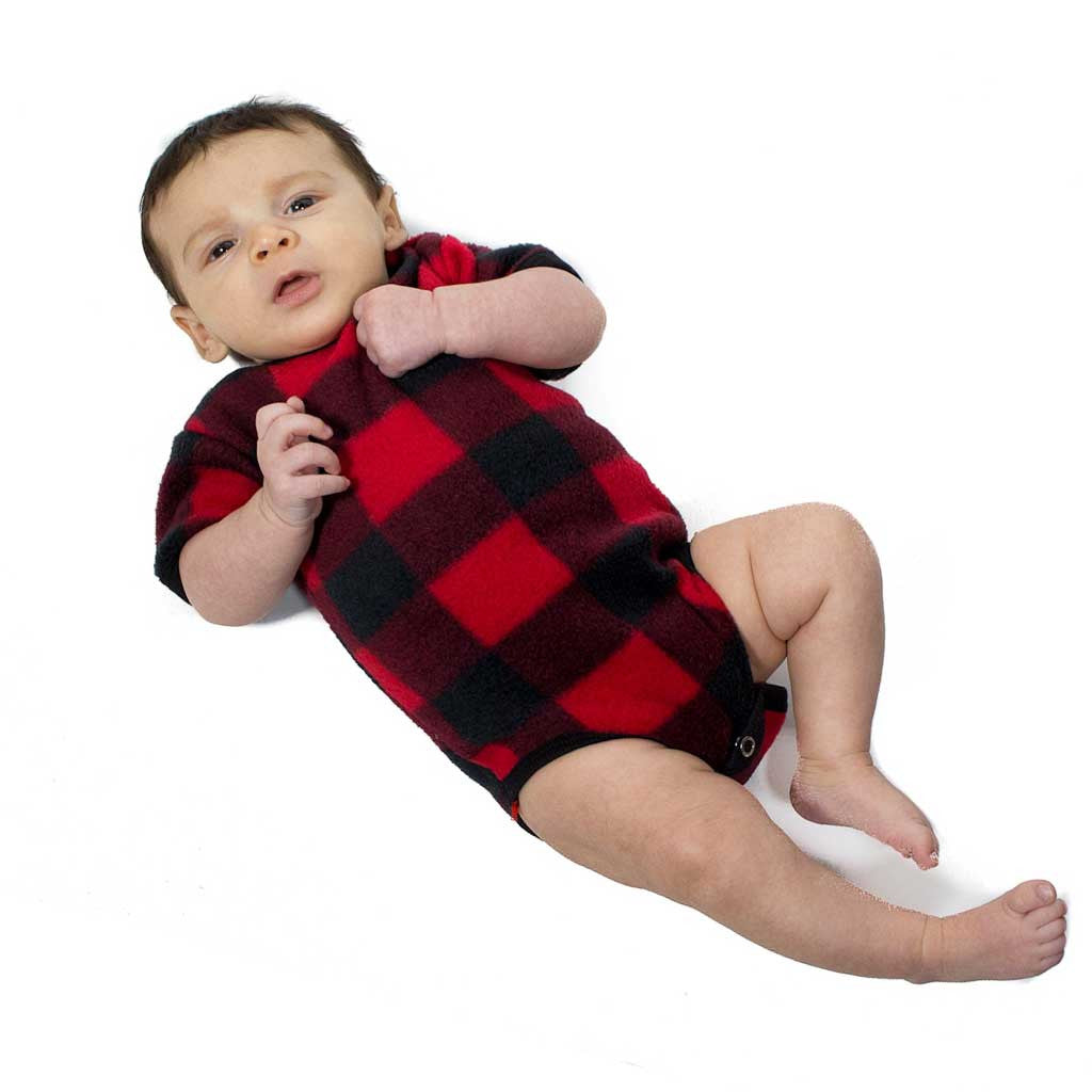 'Buffalo' Plaid Baby Onesie - Beaded Dreams