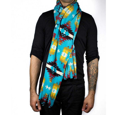 'Canyon' Turquoise Scarf - Beaded Dreams  - 2