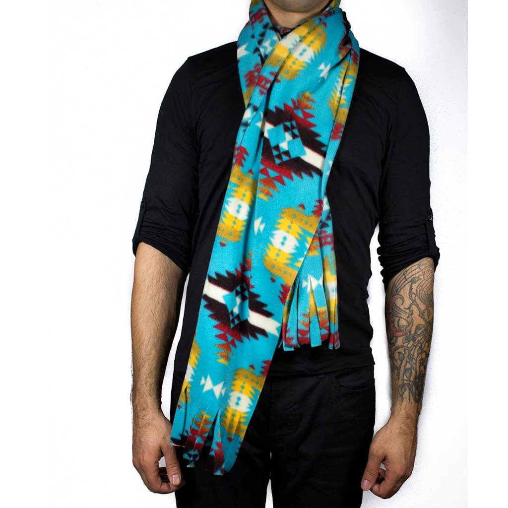 'Canyon' Turquoise Scarf - Beaded Dreams  - 1