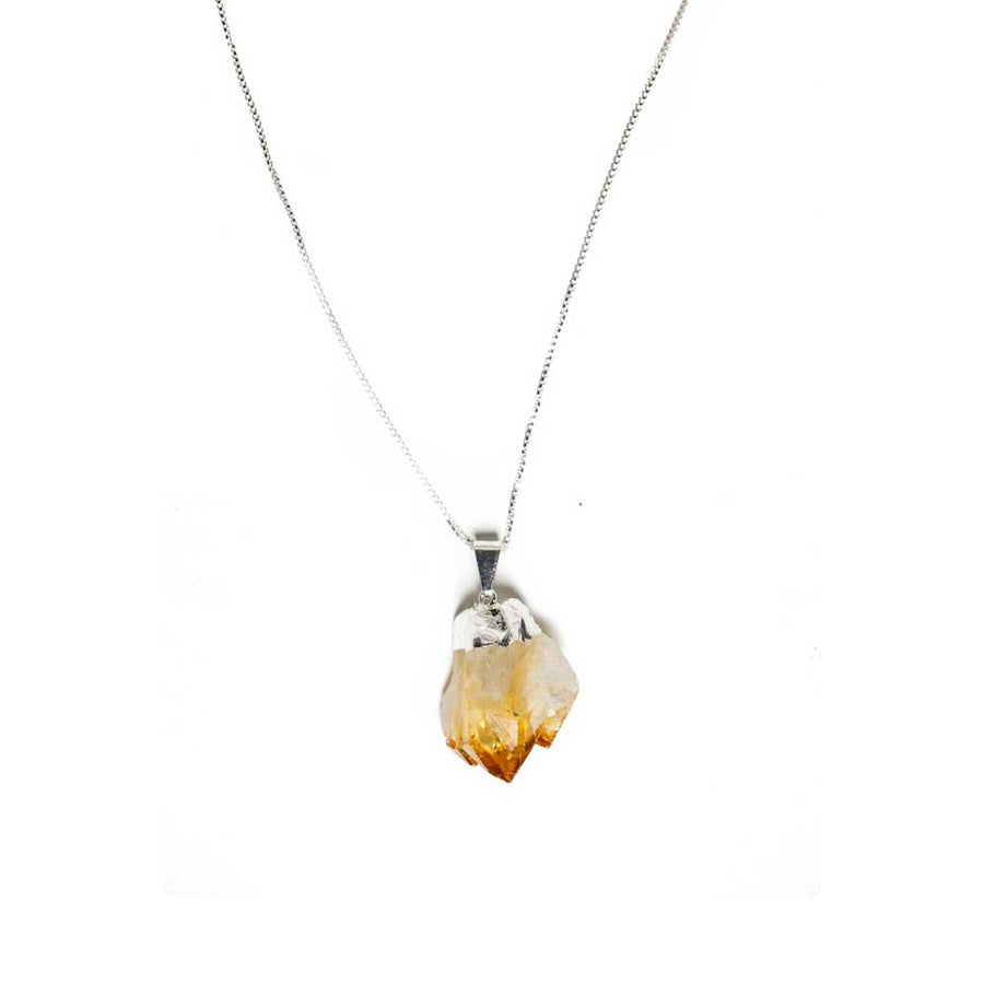 Citrine Pendant Necklace - Beaded Dreams  - 1