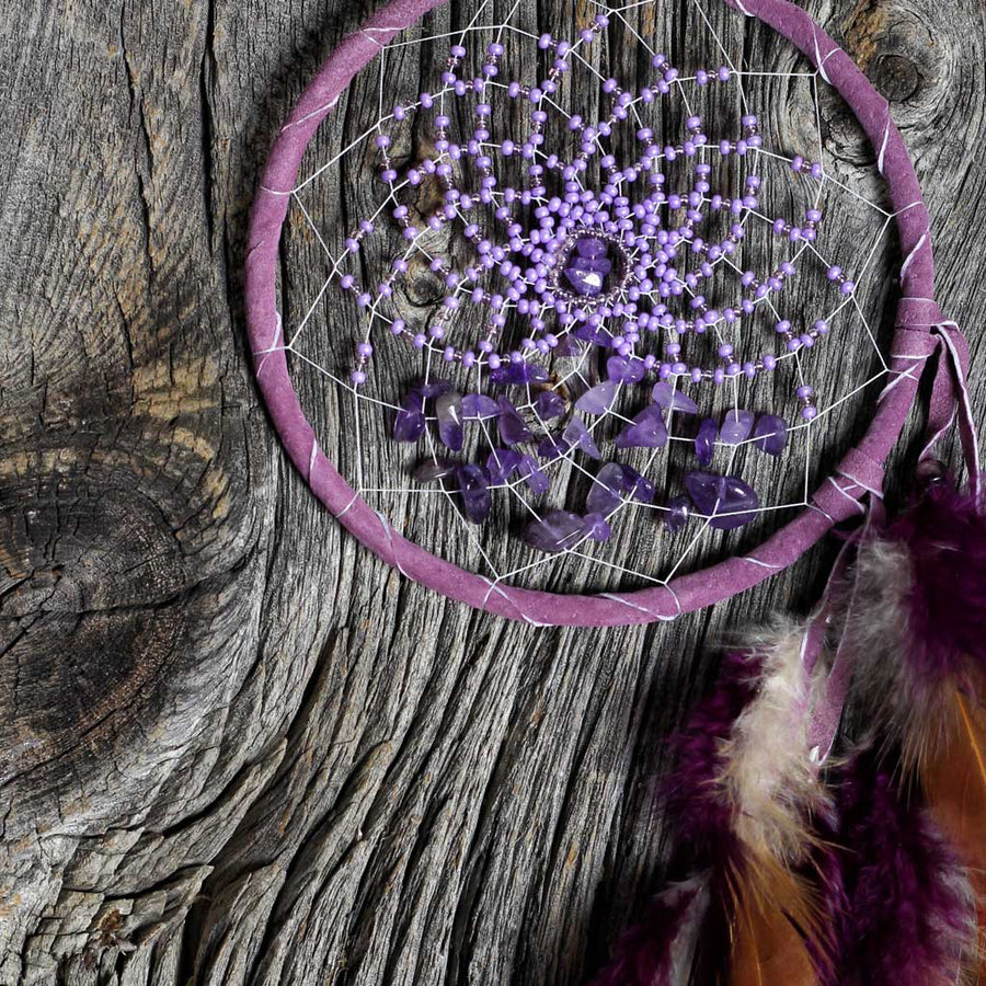 'Energy Flow' Purple Dreamcatcher