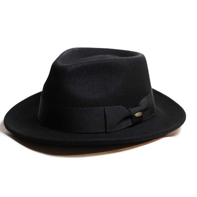 Wool Felt Black Fedora Hat