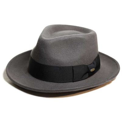 Wool Felt Grey Fedora Hat