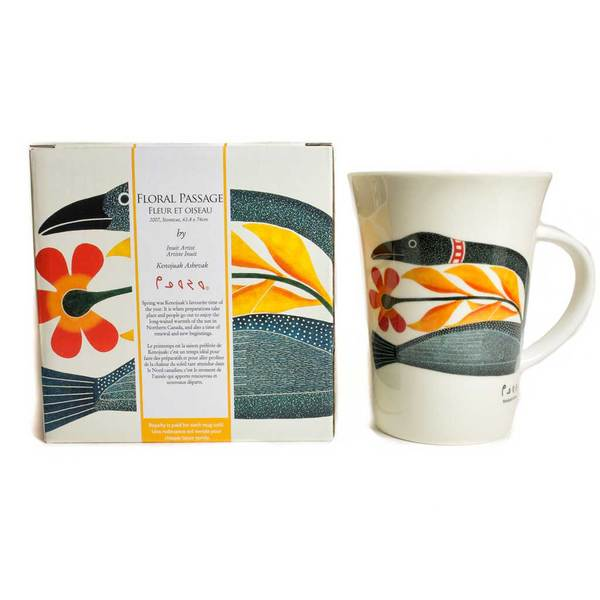 'Floral Passage' mug by Kenojuak Ashevak