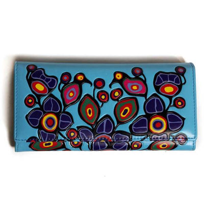 'Flowers & Birds' Wallet by Norval Morrisseau