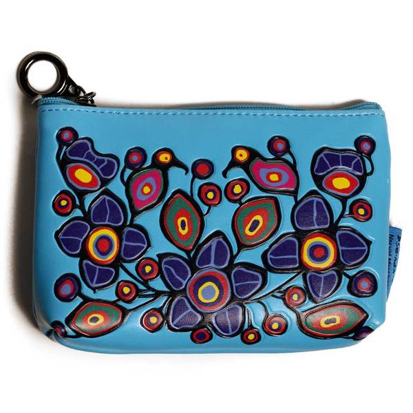 'Flowers & Birds' Coin Purse by Norval Morrisseau