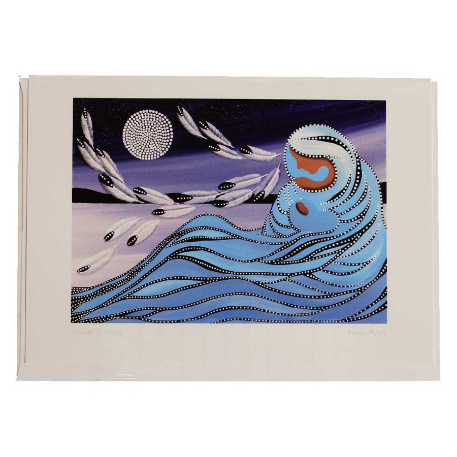 'Mother & Moon' Greeting Card by Betty Albert