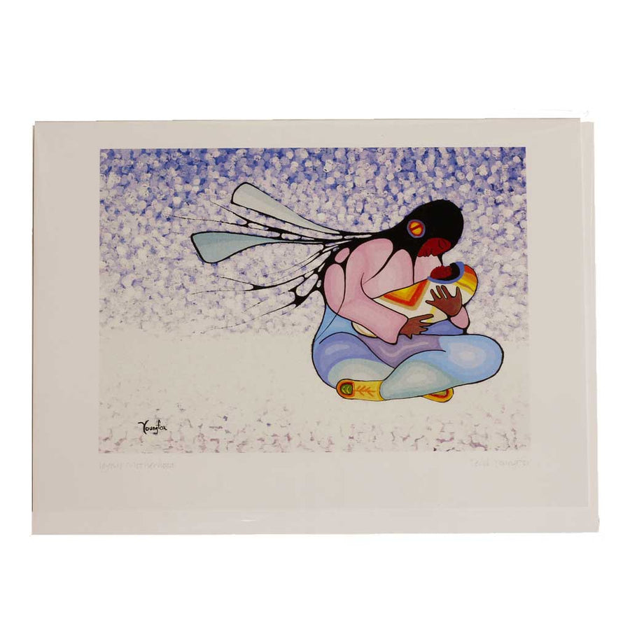 'Joyous Motherhood' Greeting Card by Cecil Youngfox