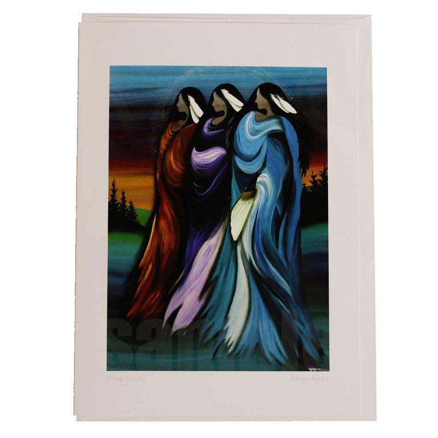 'Three Sisters' Greeting Card by Betty Albert