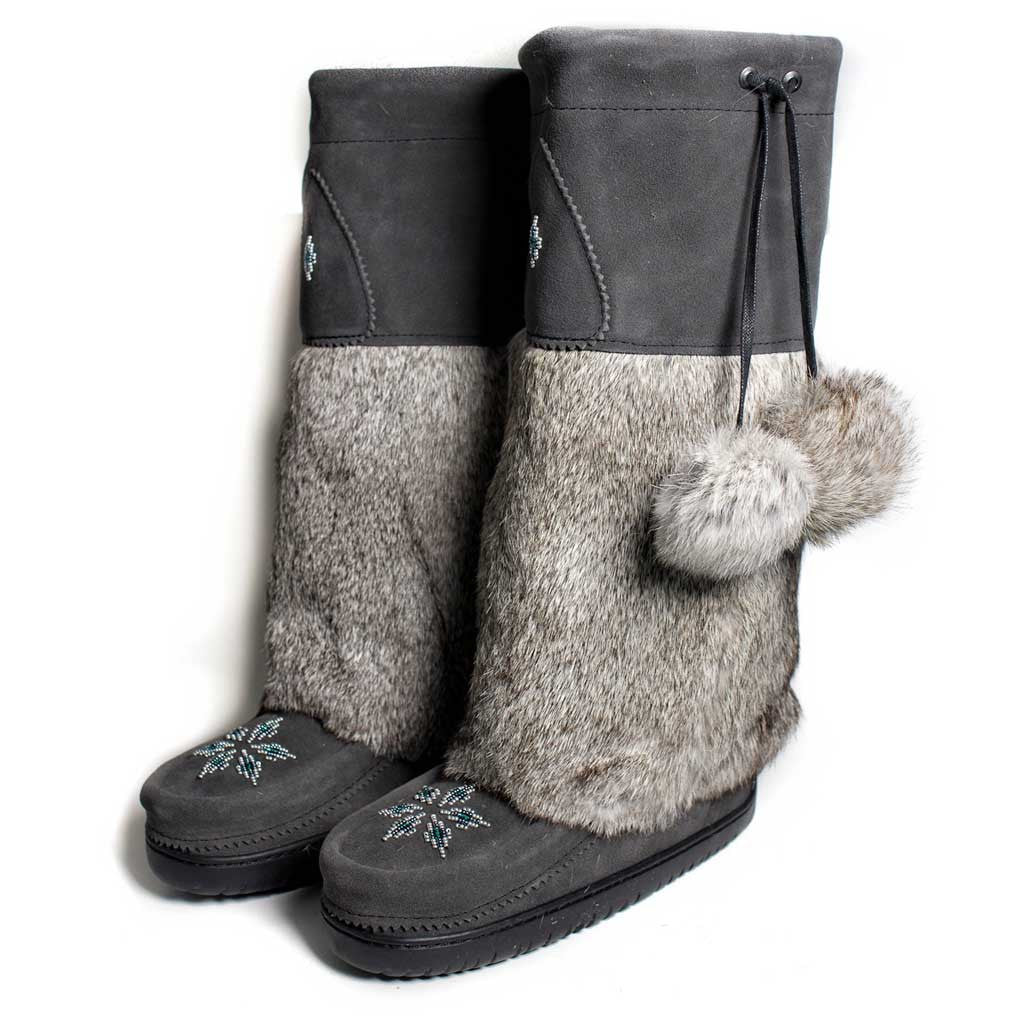 Kanada Charcoal Mukluk - Beaded Dreams  - 1