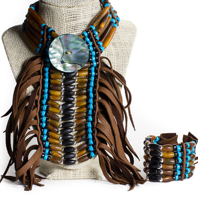 'Legend' Choker Breastplate Set - Beaded Dreams  - 3