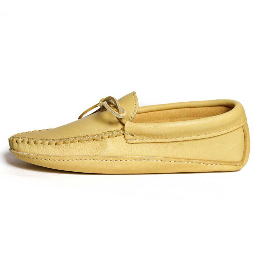 Men's Natural Moose Hide Moccasins