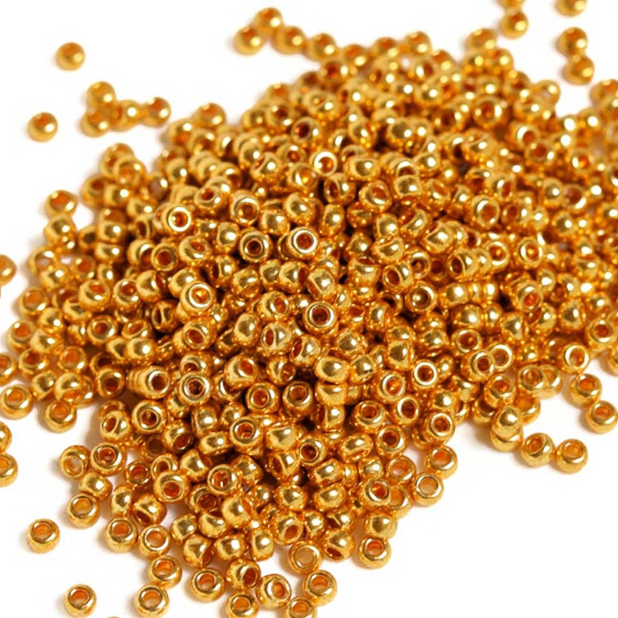 Metallic Gold - Size 8/0 Seedbeads