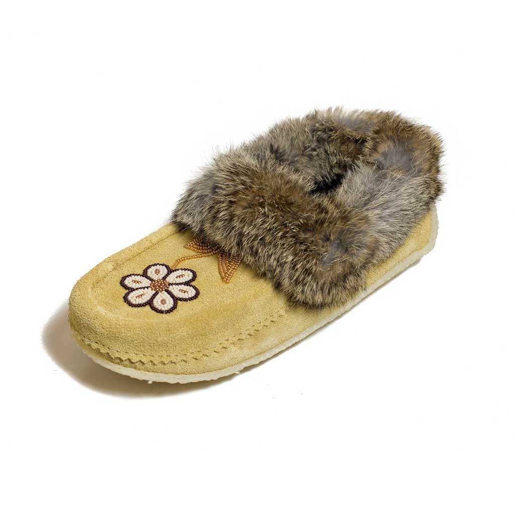 Metis Tan Moccasin - Beaded Dreams  - 1