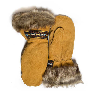 Moose Suede Fur Trim Gauntlet - Beaded Dreams  - 2