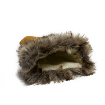 Moose Suede Fur Trim Gauntlet - Beaded Dreams  - 3