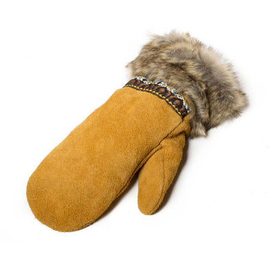 Moose Suede Mitts - Beaded Dreams