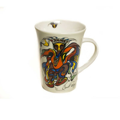 'Pow Wow Dancer' Mug by Daphne Odjig