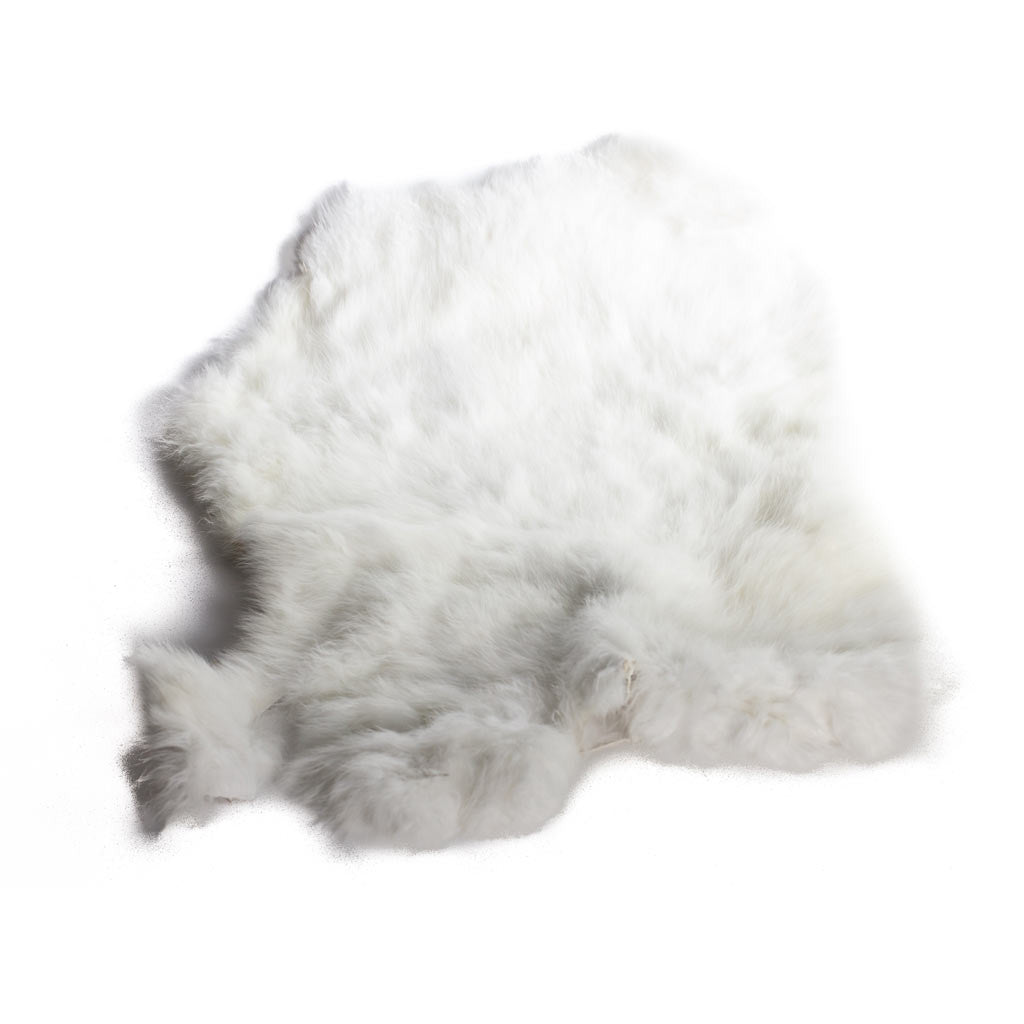 Rabbit Fur Pelt - White or Natural - Beaded Dreams  - 1