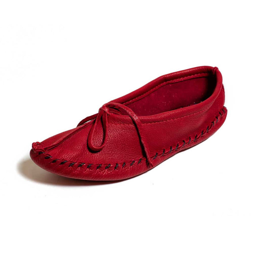 Red Deer Hide Moccasins - Beaded Dreams  - 1