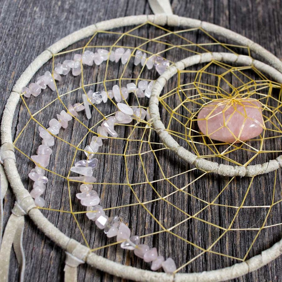 Rose Quartz Dreamcatcher