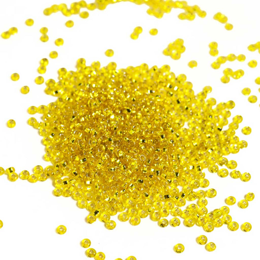 Yellow Silverlined - Size 8/0 Seedbeads