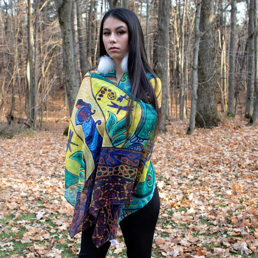 'Strong Earth Woman' Shawl by Leah Dorion