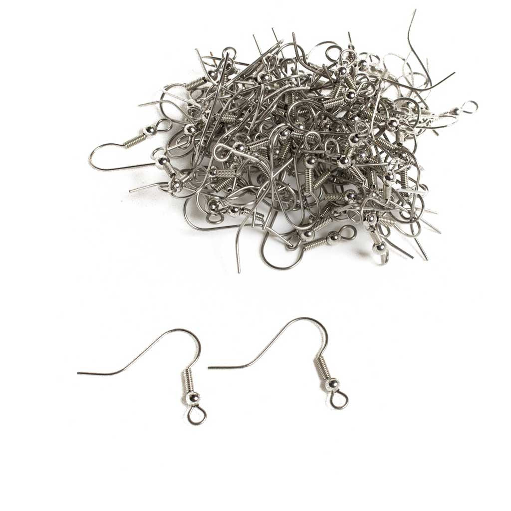 Surgical Steel Earring Hooks - 100 pcs.