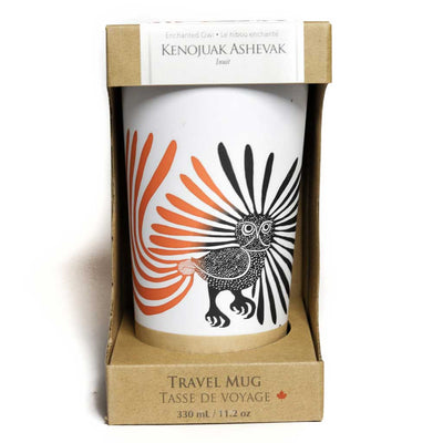 'Enchanted Owl' Stainless Steel Travel Mug by Kenojuak Ashevak