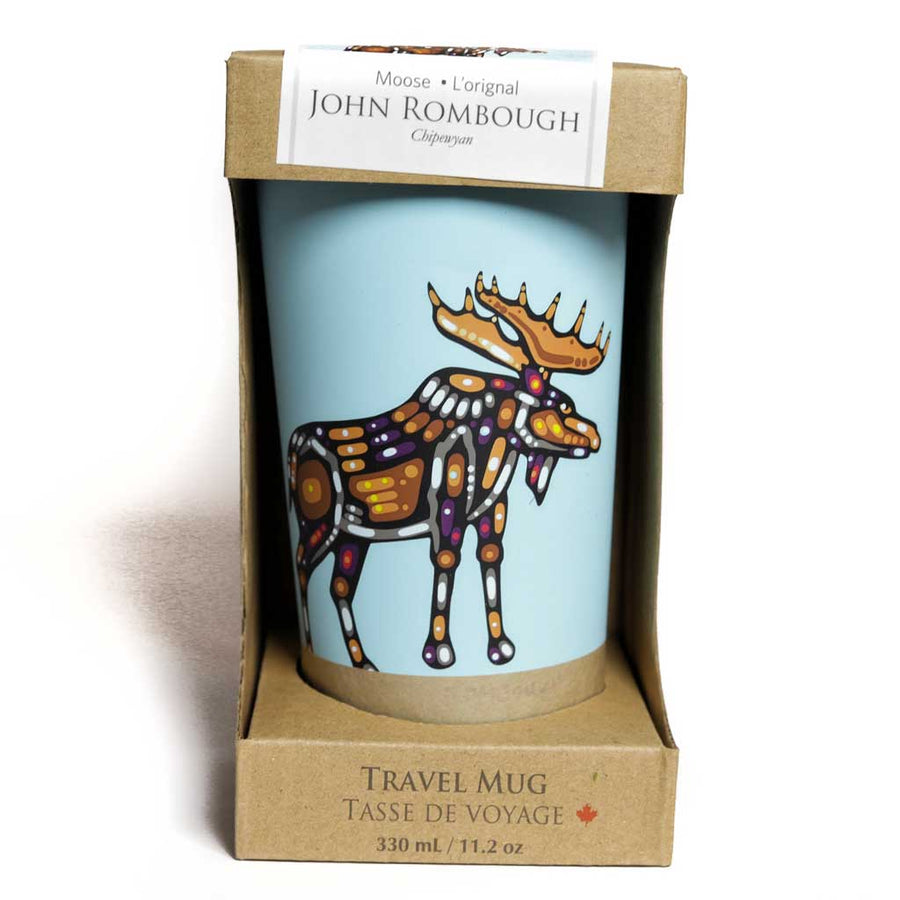 'Moose' Stainless Steel Travel Mug by John Rombough