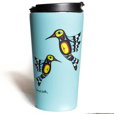 'Hummingbird' Stainless Steel Travel Mug by Francis Dick