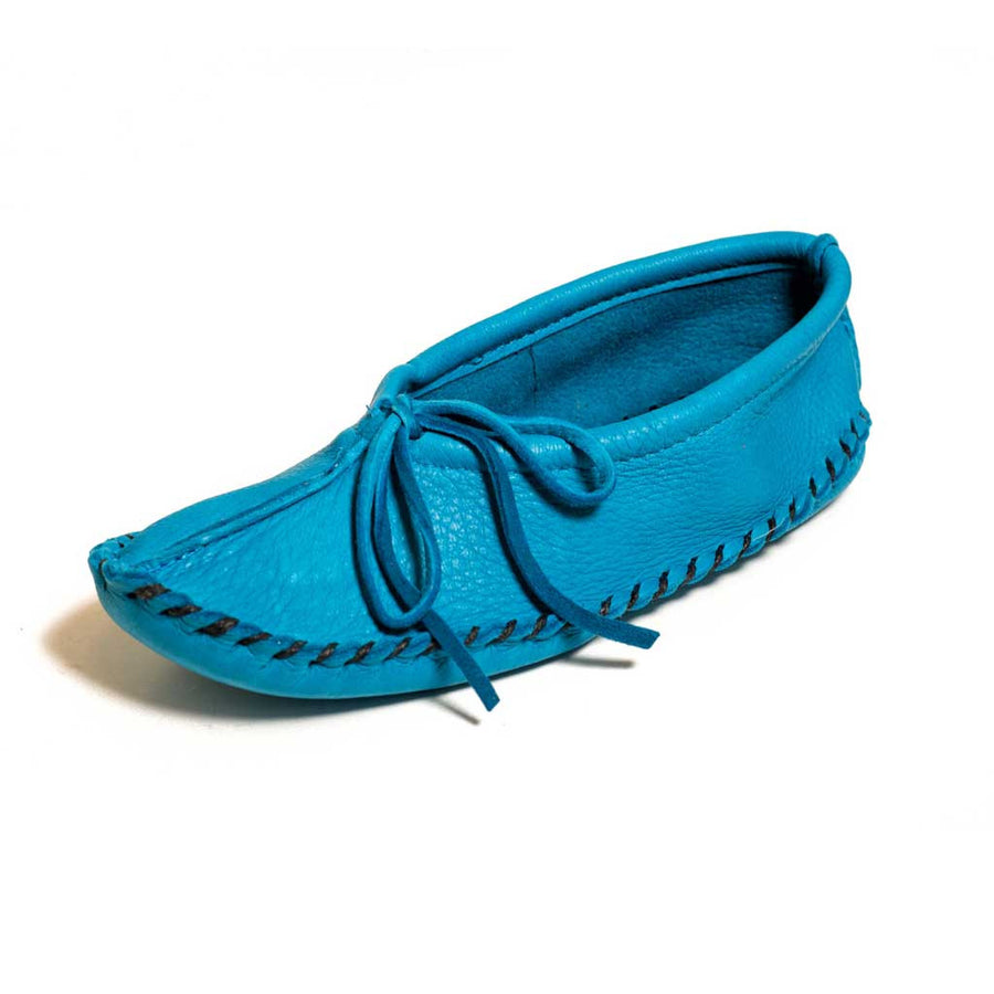 Turquoise Deer Hide Moccasins - Beaded Dreams  - 1