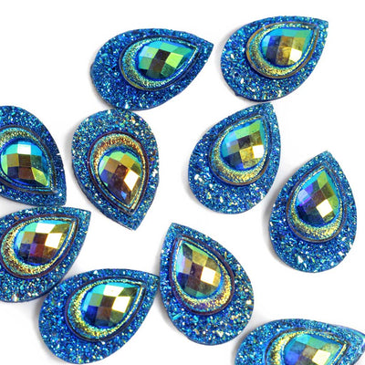 Peacock Resin Cabochons