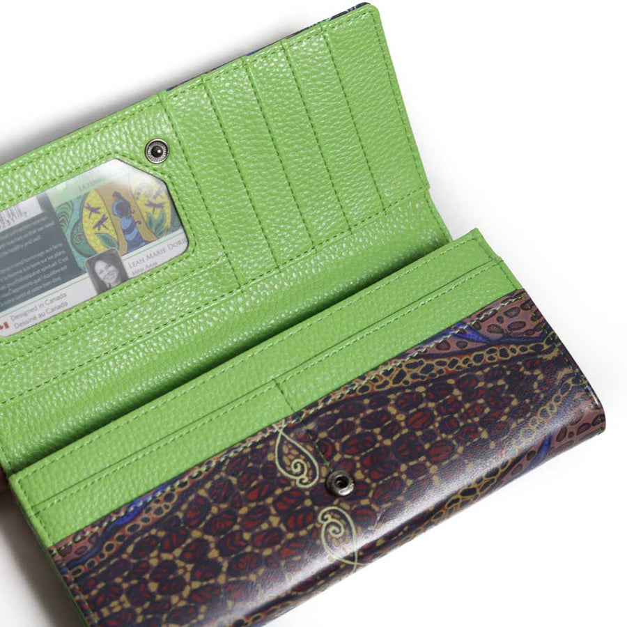 'Strong Earth Woman' Wallet by Leah Dorion