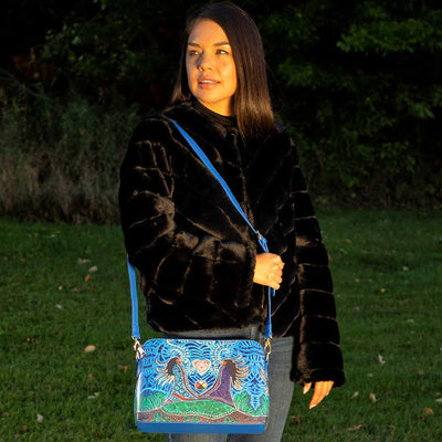 'Breath of Life' Artist Purse by Leah Dorion