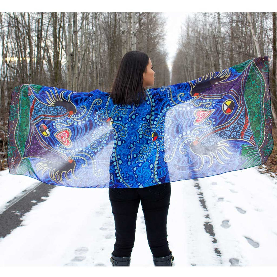 'Breath of Life' Shawl by Leah Dorion