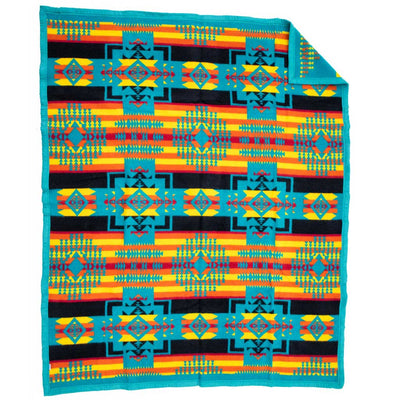 Boy Chief Blanket - Turquoise